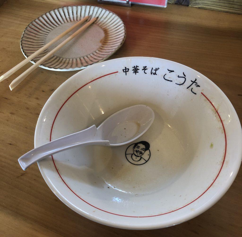 中華そばこうた完食